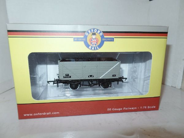 Oxford Rail OR76MW7013 MW7013 7 Plank Wagon BR British Railways Grey P73162